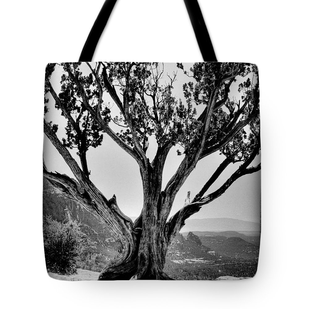 Sedona Tote Bag featuring the photograph The Scene In Many John Wayne Westerns by David Patterson
