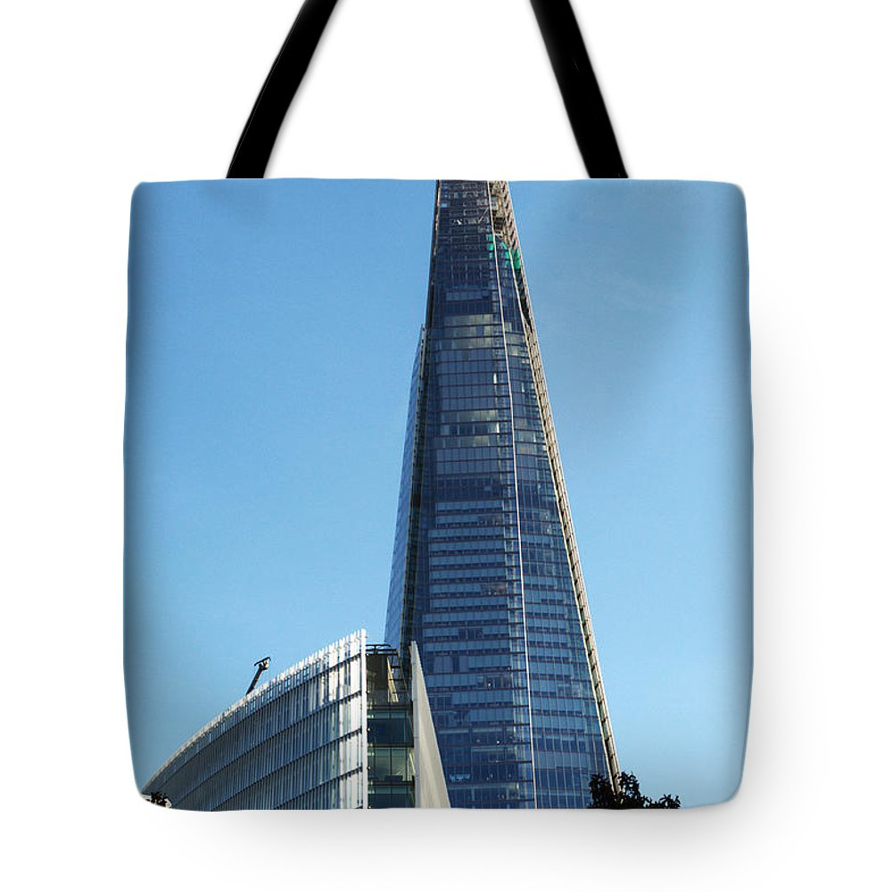 Shard Tote Bag featuring the photograph The Shard by Chris Day