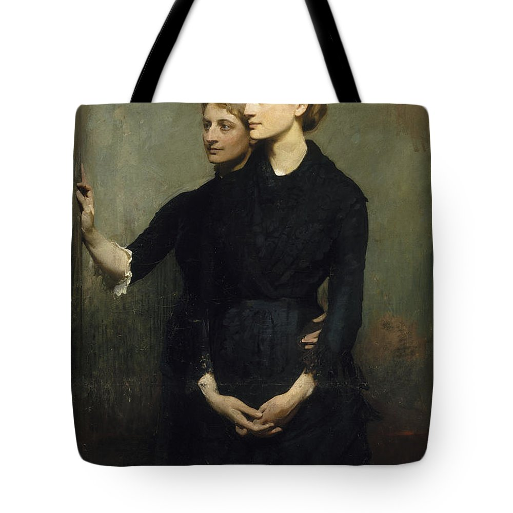 Abbott Handerson Thayer Tote Bag featuring the painting The Sisters by Celestial Images