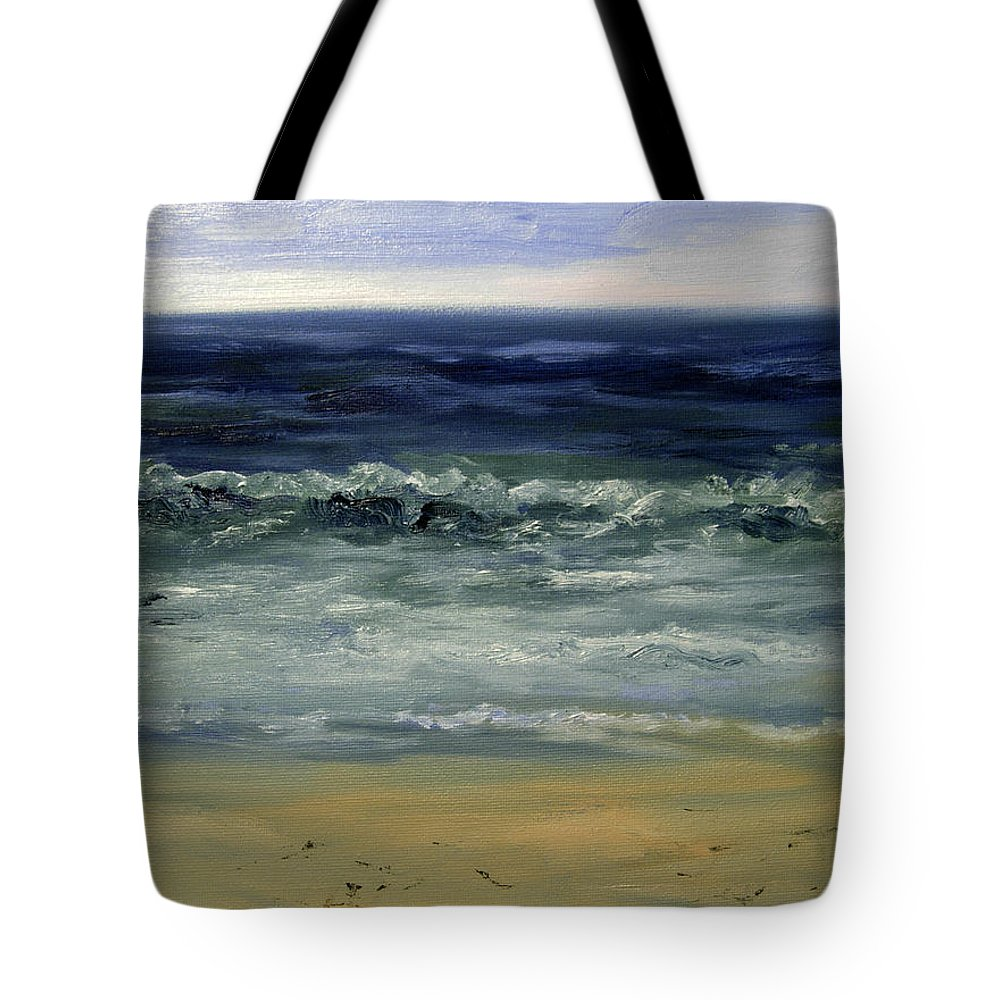 Water Tote Bag featuring the painting The Waves by Joel Zimmerman