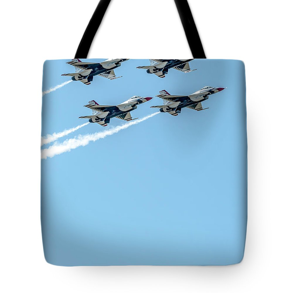Thunderbirds Tote Bag featuring the photograph Thunderbirds In Formation by Amel Dizdarevic