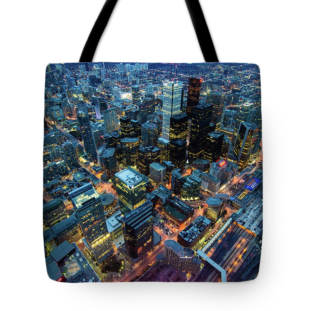 Toronto Tote Bag featuring the photograph Toronto by Naeem Jaffer