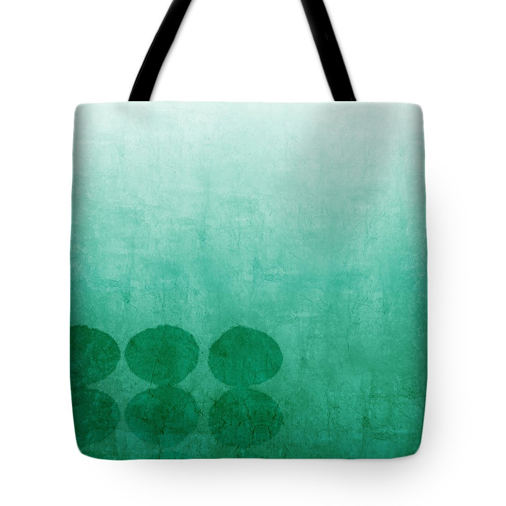 Abstract Tote Bag featuring the painting Tranquility by Linda Woods