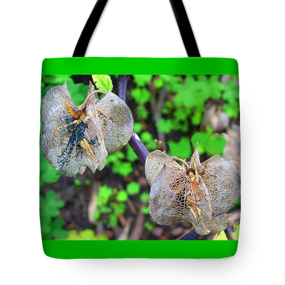 Fairy Tote Bag featuring the digital art Trapped Fairies by Lisa Yount