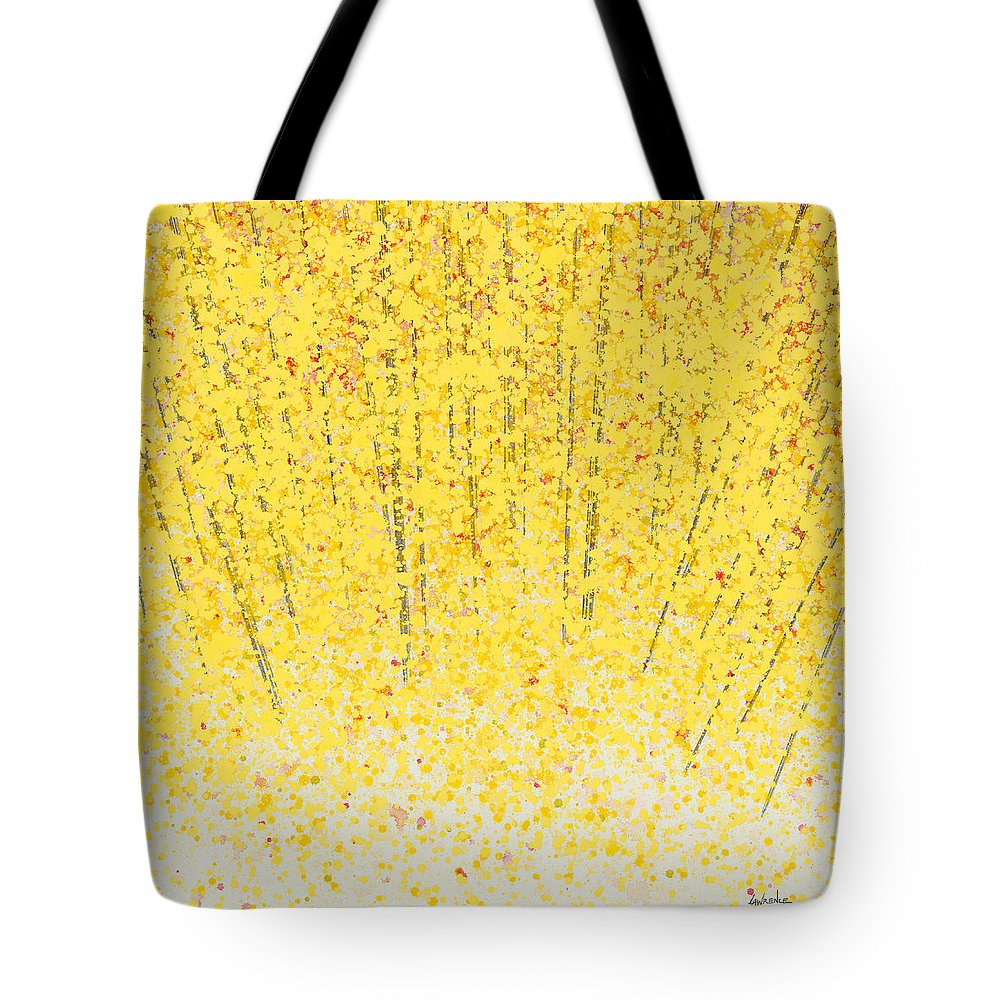 Tote Bag featuring the painting Trees At Twilight Xv by Jerome Lawrence
