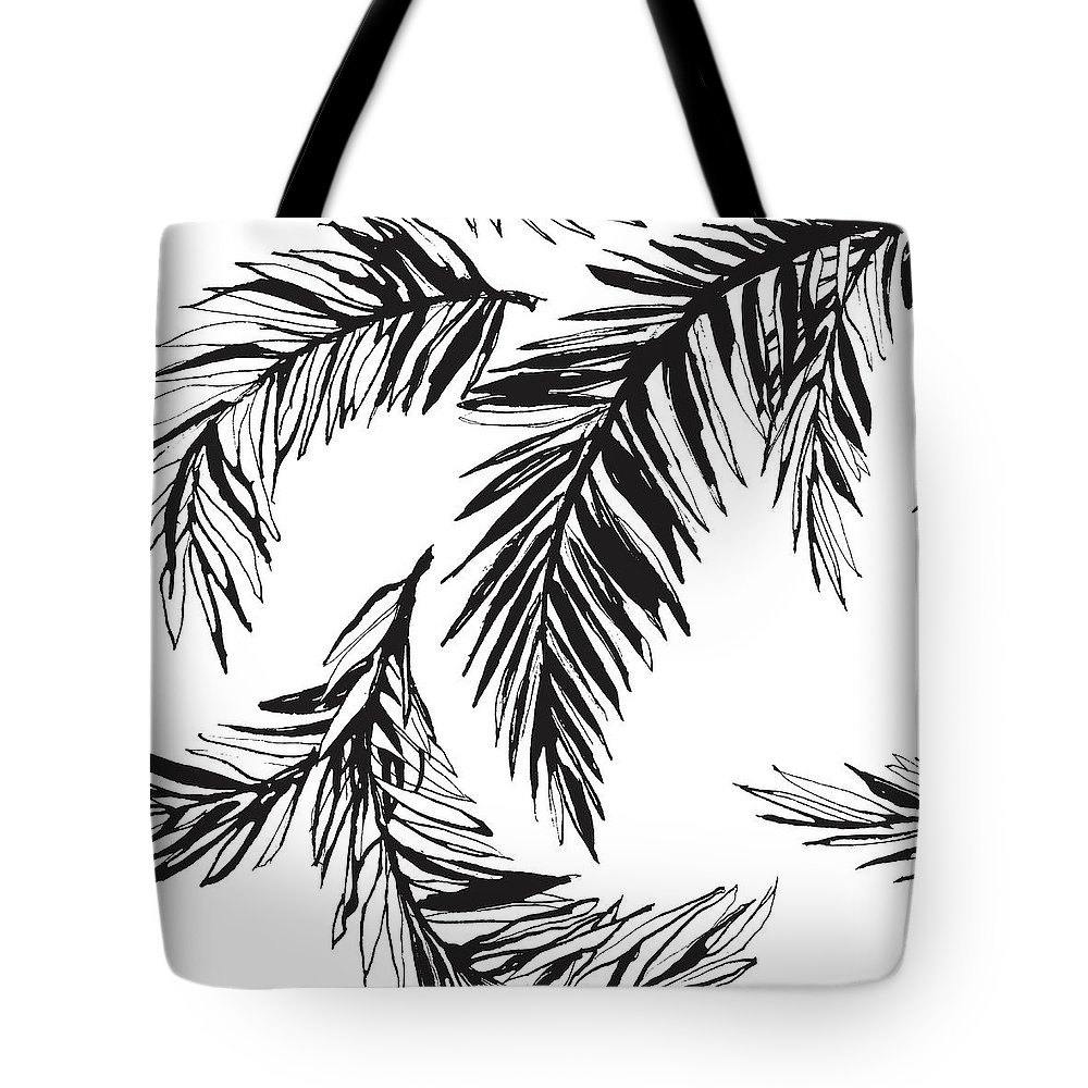 Tropical Rainforest Tote Bag featuring the digital art Tropical Jungle Floral Seamless by Sv sunny