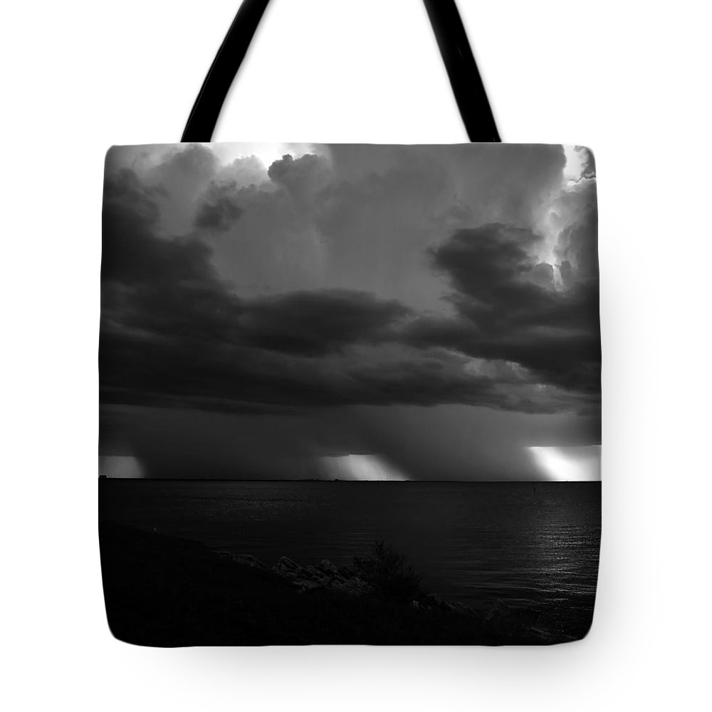 Thunder Storm Tote Bag featuring the photograph Tropical Twins by David Lee Thompson
