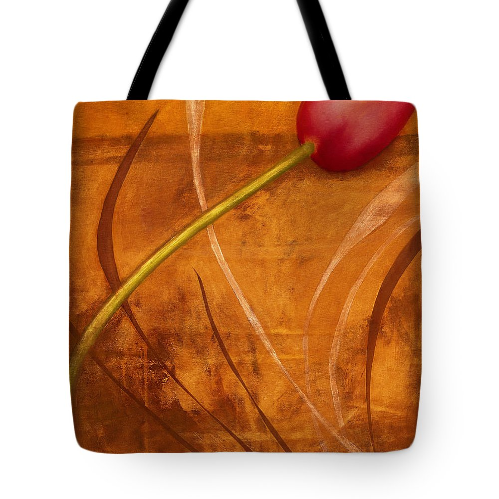 Tote Bag featuring the painting Tulips Are People Xi by Jerome Lawrence
