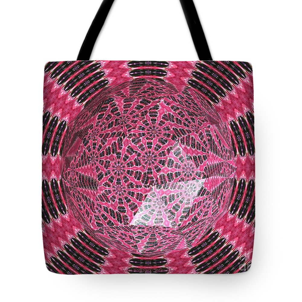 Tulip Tote Bag featuring the photograph Tulips Kaleidoscope Under Polyhedron Glass by Rose Santuci-Sofranko
