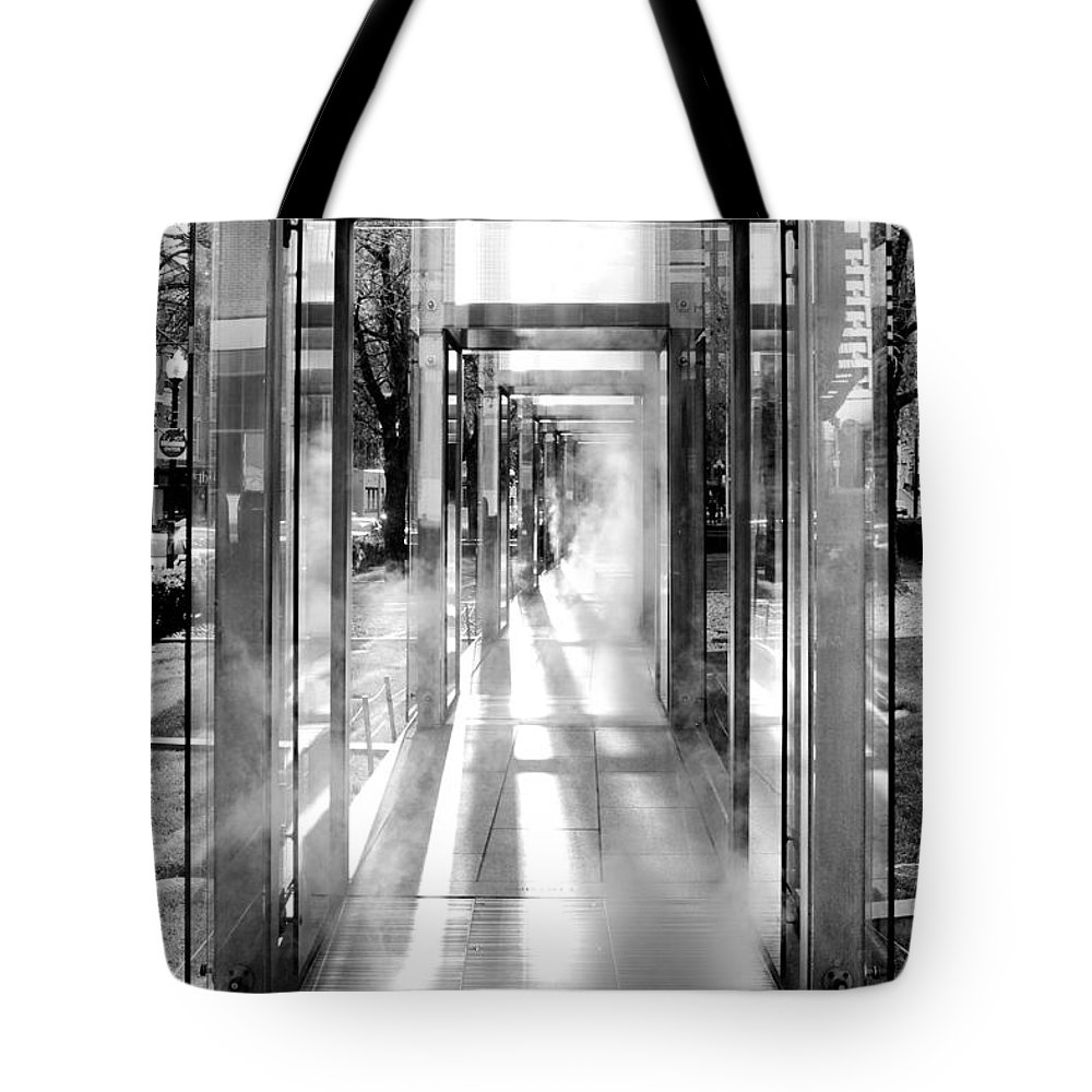 Boston Tote Bag featuring the photograph Tunnel Vision by Greg Fortier
