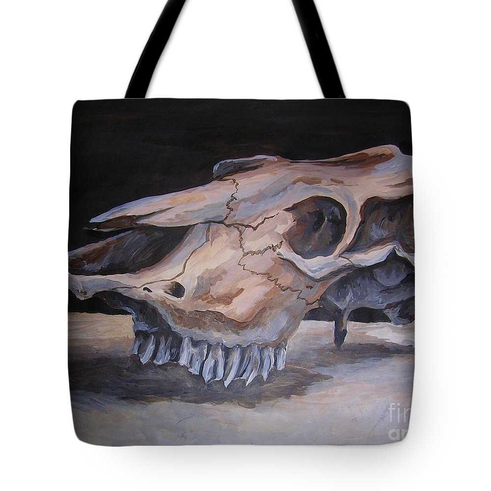 Acrylic Tote Bag featuring the painting Untitled by Holly DeSelms