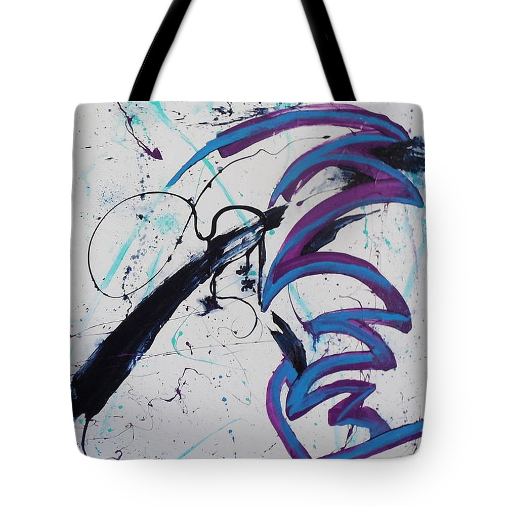 Abstract Tote Bag featuring the painting Untitled by Larry Johnson