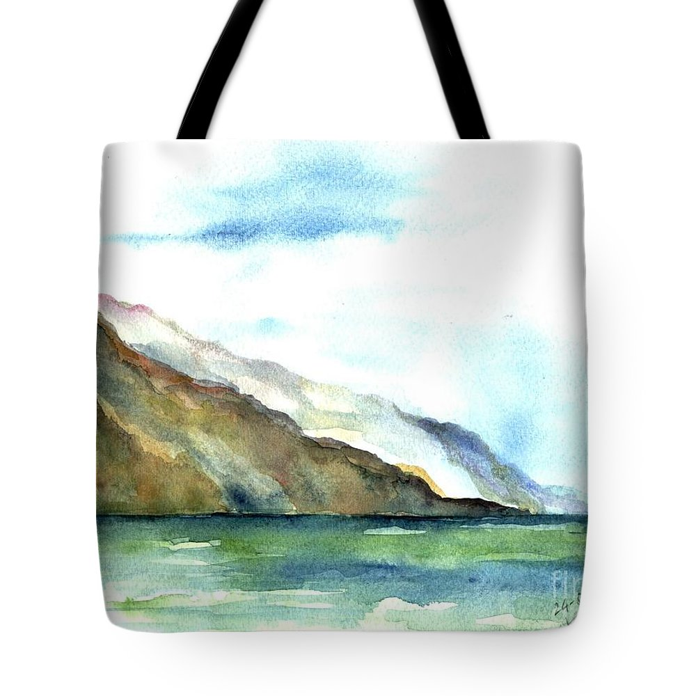 Seascape Tote Bag featuring the painting View by Karina Plachetka
