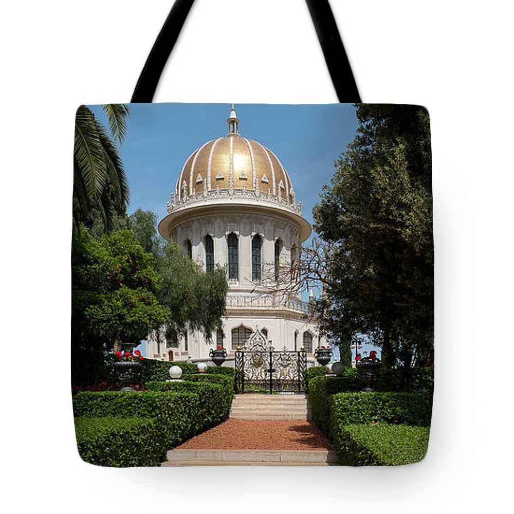 Photography Tote Bag featuring the photograph View Of Terraces Of The Shrine by Panoramic Images