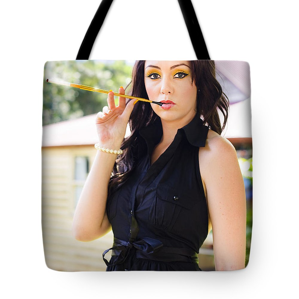 Attractive Tote Bag featuring the photograph Vintage Fashion Glamour by Jorgo Photography - Wall Art Gallery