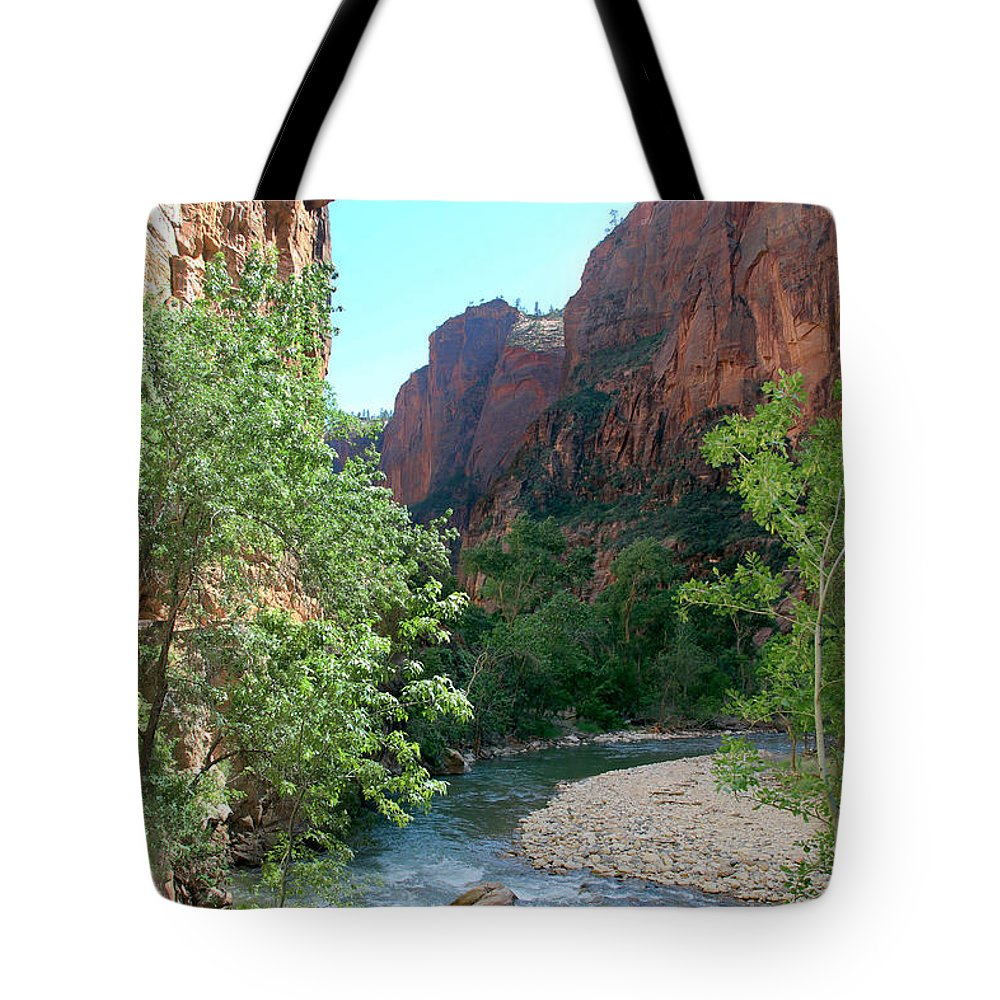 Virgin River Rapids Tote Bag featuring the photograph Virgin River Rapids by Jemmy Archer