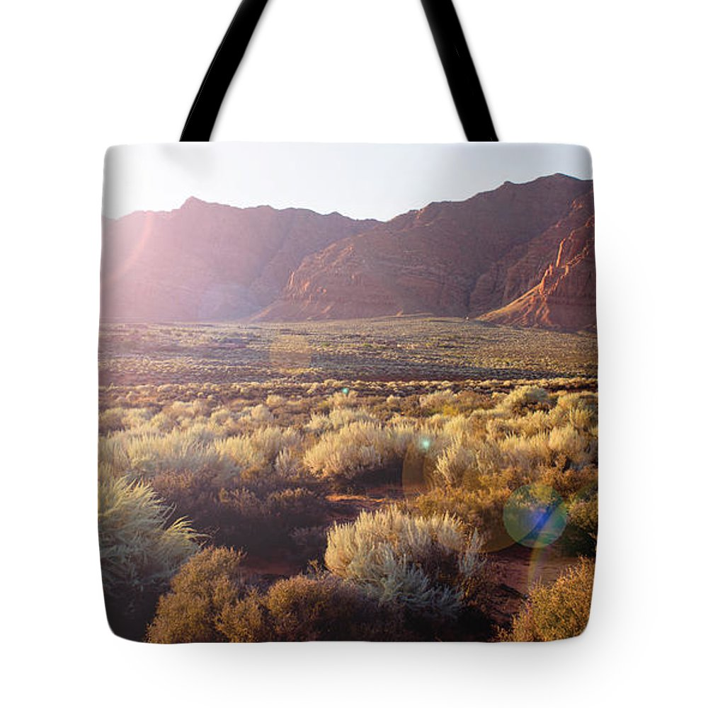 Red-rock Tote Bag featuring the photograph Warm Sunshine by Kim Marshall