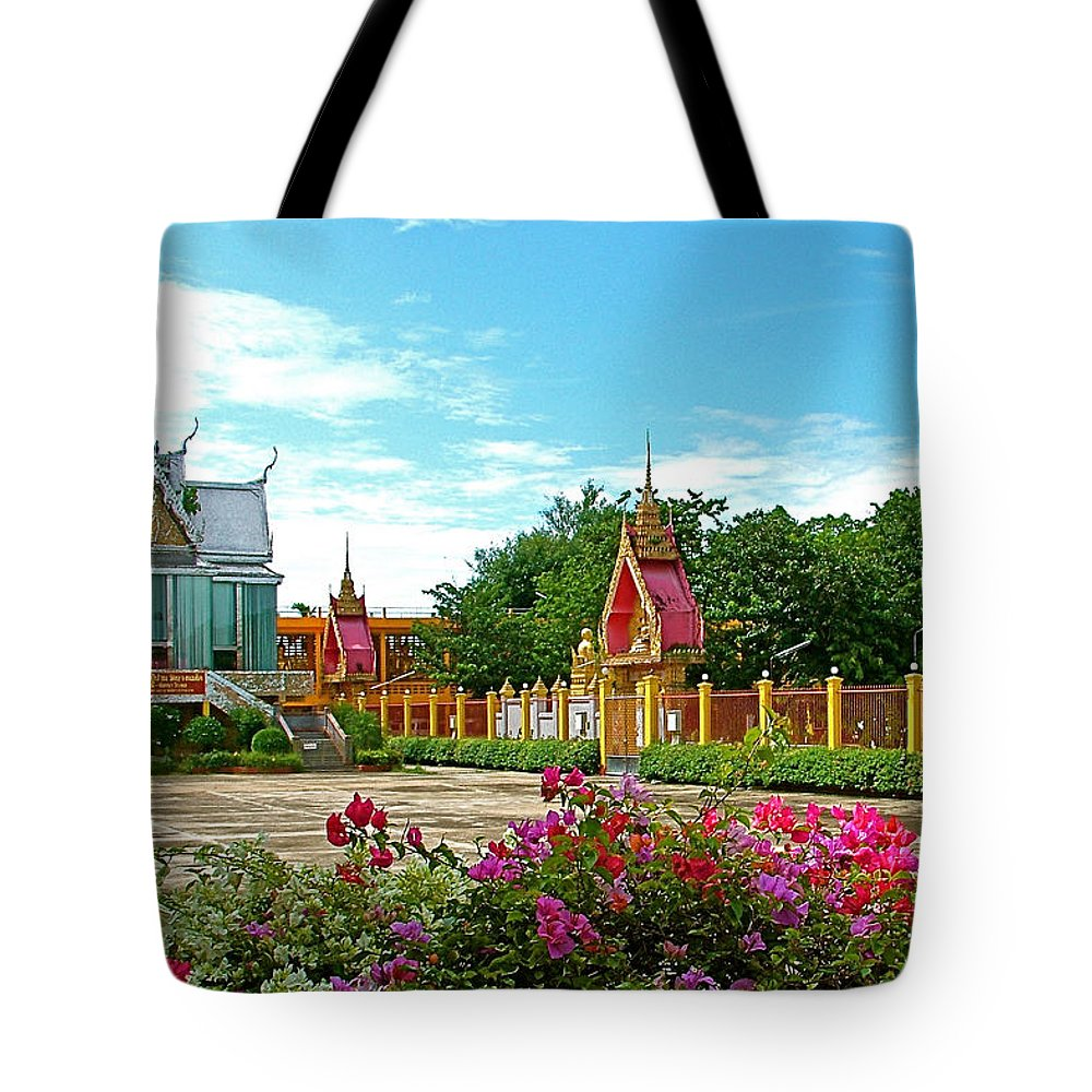 Wat Tha Sung Temple In Uthaithani Tote Bag featuring the photograph Wat Tha Sung Temple In Uthaithani-thailand by Ruth Hager