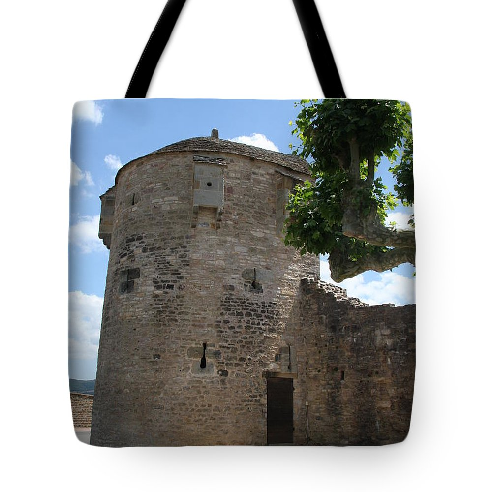 Watch Tower Tote Bag featuring the photograph Watch Tower In Cluny by Christiane Schulze Art And Photography