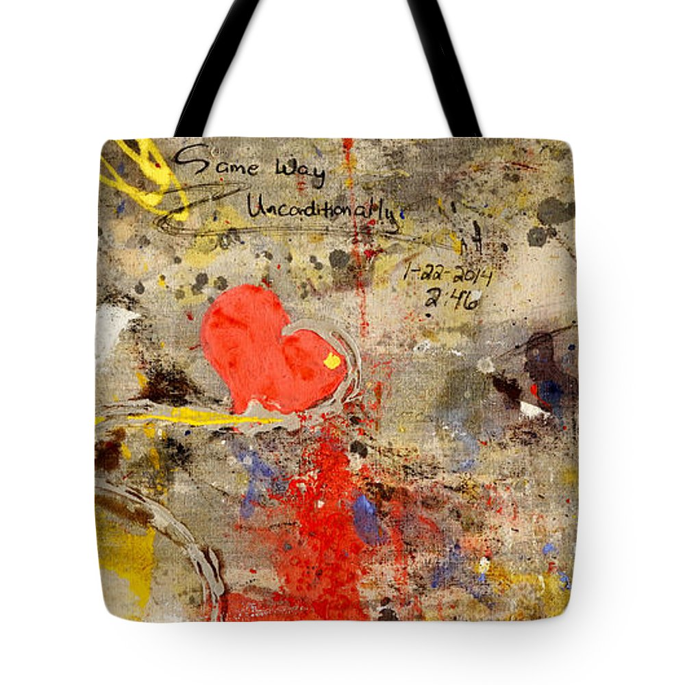 Love Tote Bag featuring the painting We All Bleed The Same Color II by Giorgio Tuscani