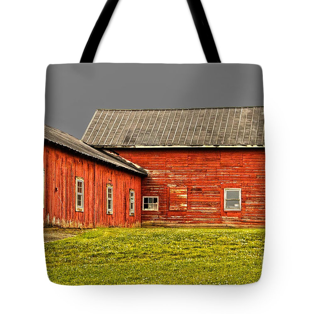 Weathered Tote Bag featuring the photograph Weathered by William Norton