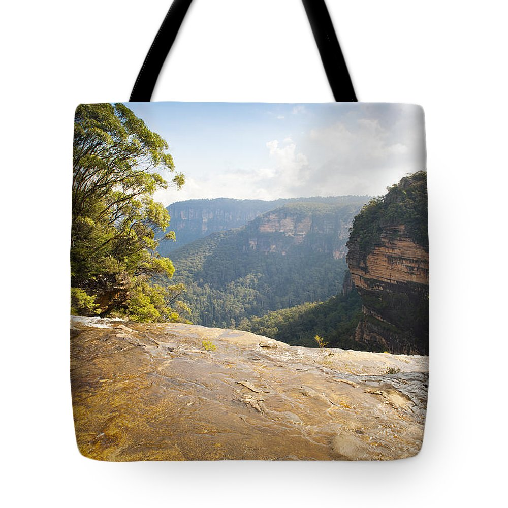 Australia Tote Bag featuring the photograph Wentworth Falls by Tim Hester