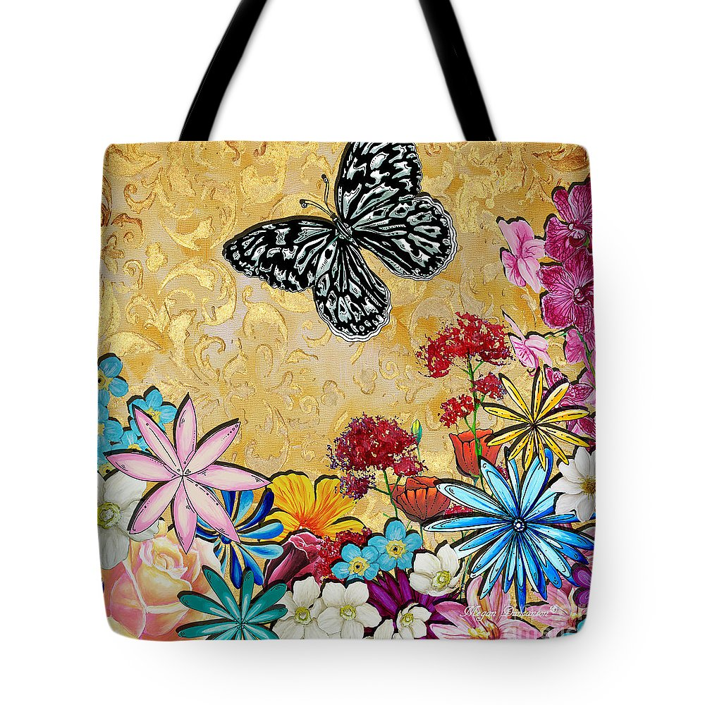 Whimsical Floral Flowers Butterfly Art Colorful Uplifting Painting ...
