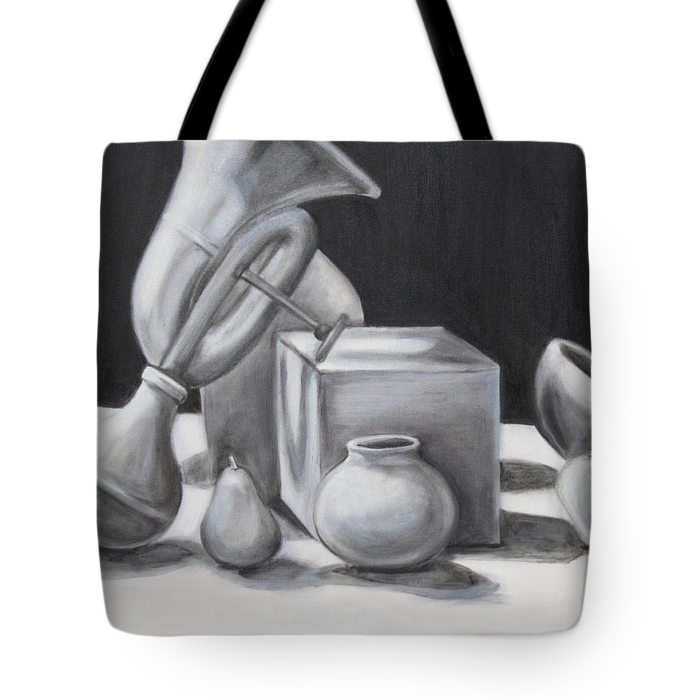Still Life Tote Bag featuring the painting White Noise by Jeffrey Oleniacz