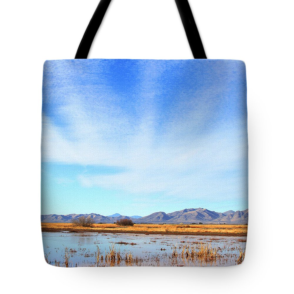 White Water Draw Preserve Tote Bag featuring the photograph White Water Draw Preserve by Tom Janca