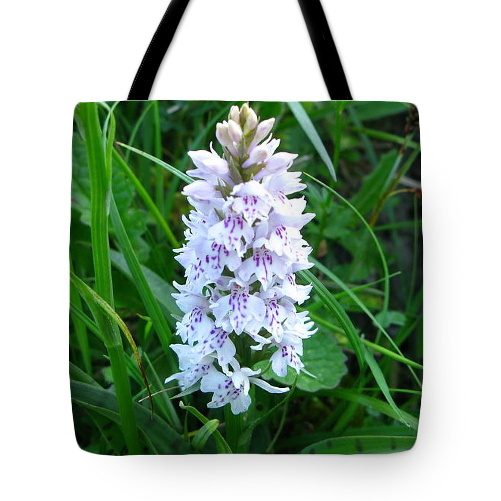 Wild Orchid Tote Bag featuring the photograph Wild Orchid by Maria Joy