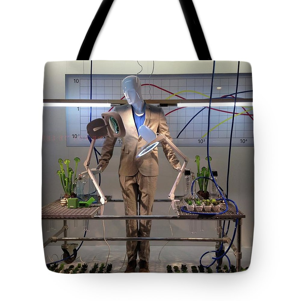 Mark J Dunn Tote Bag featuring the photograph Window Art by Mark J Dunn