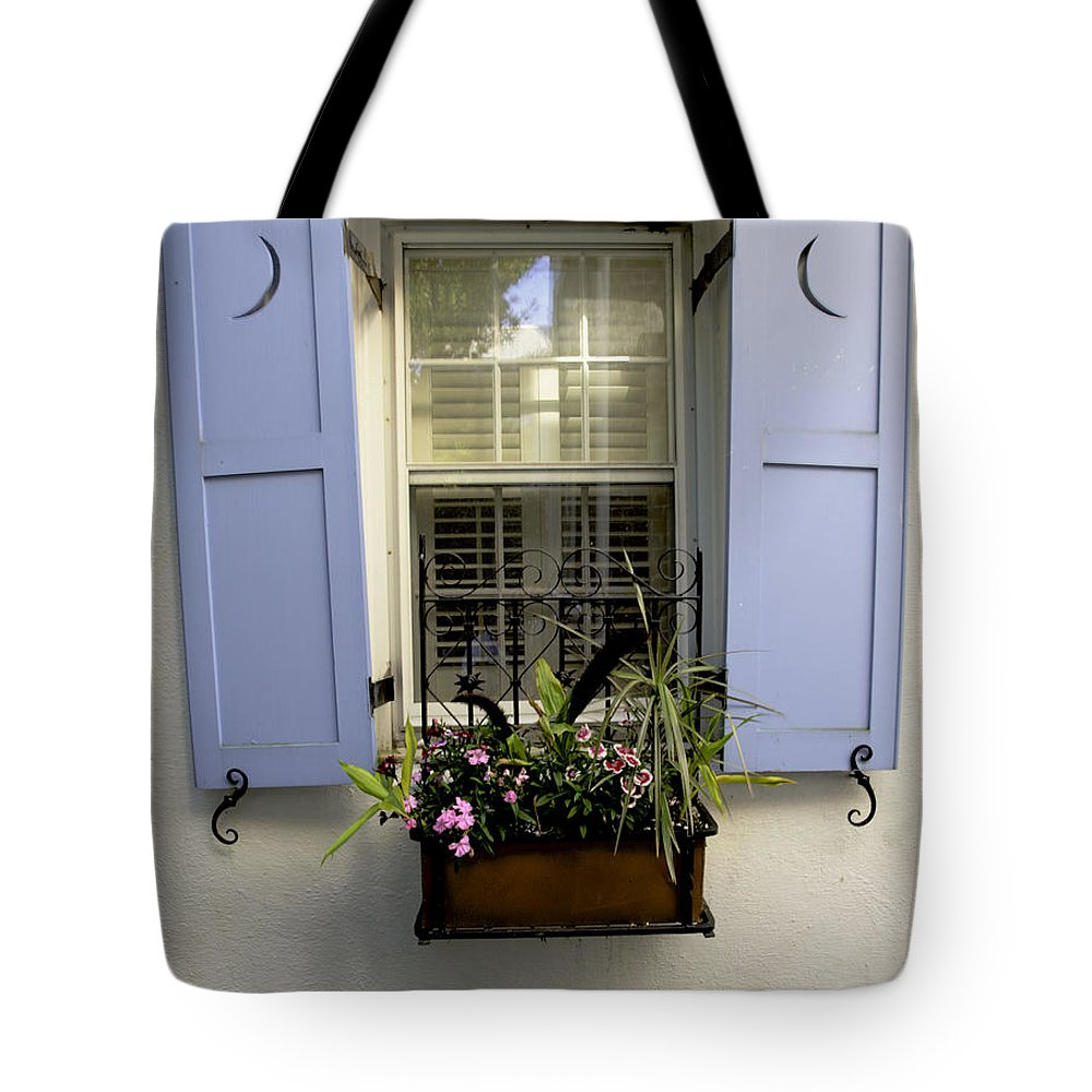 Townhouse Tote Bag featuring the photograph Window by Bruce Bain