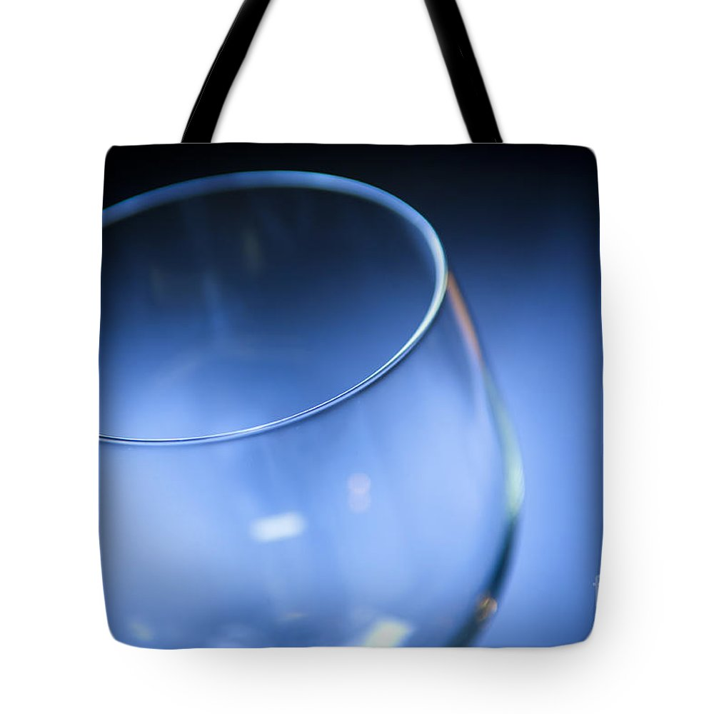 Above Tote Bag featuring the photograph Wine Glass by Tim Hester