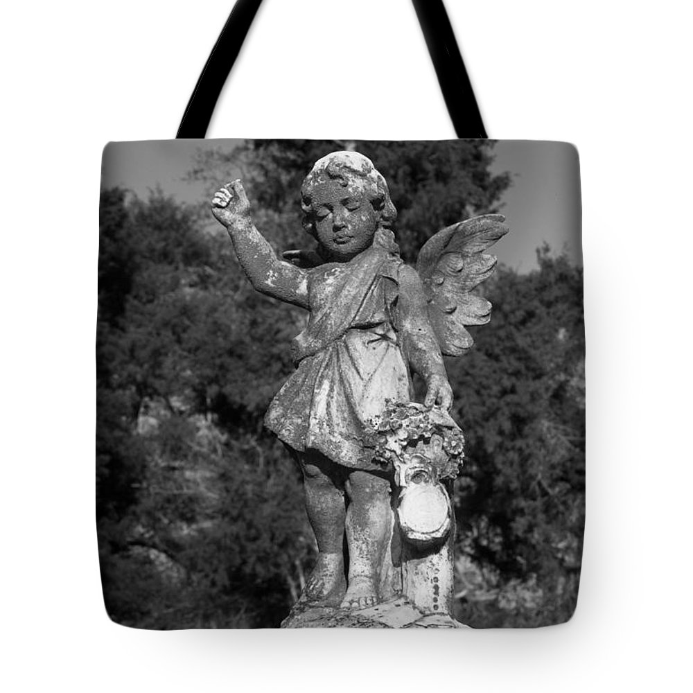 Winged Tote Bag featuring the photograph Winged Girl 8 by Douglas Barnett