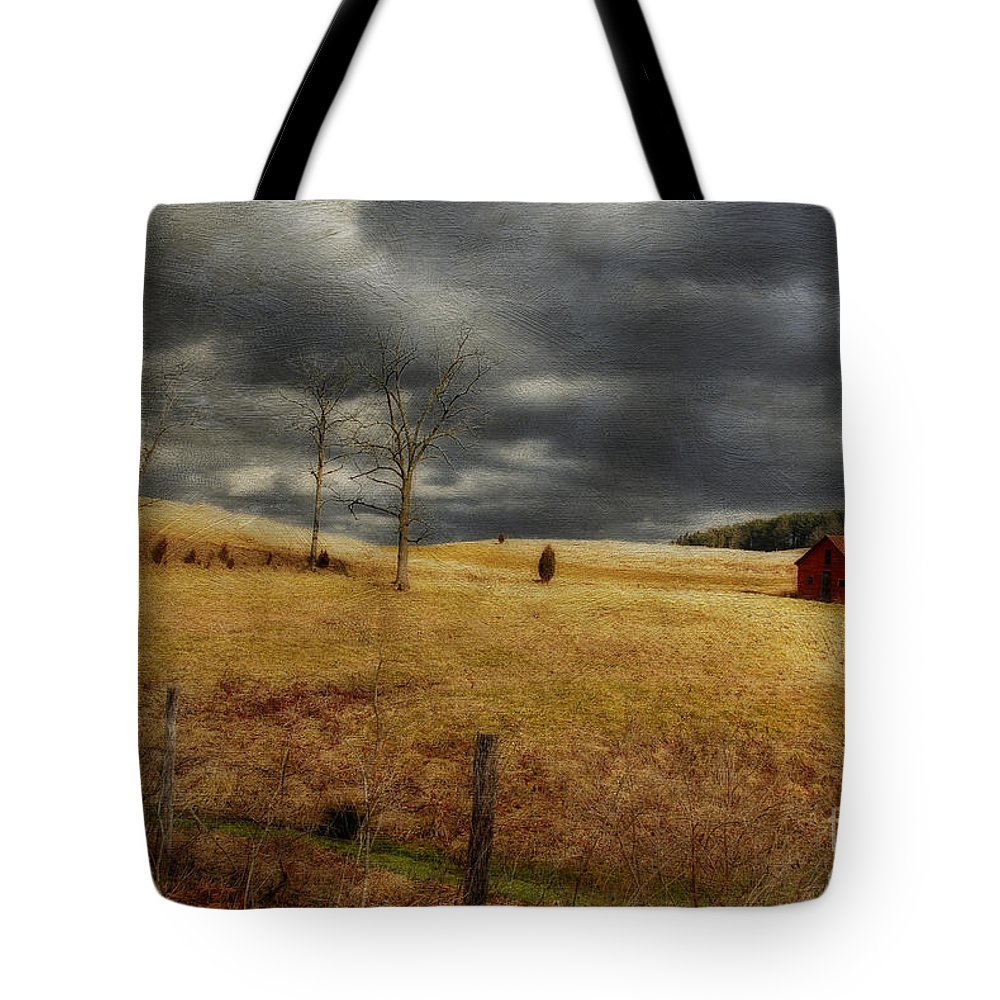 Winter Begins Tote Bag featuring the photograph Winter Begins by Lois Bryan