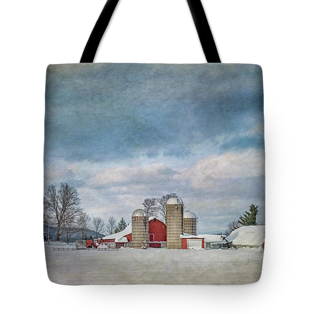 Winter Tote Bag featuring the photograph Wintertime by Claudia Kuhn