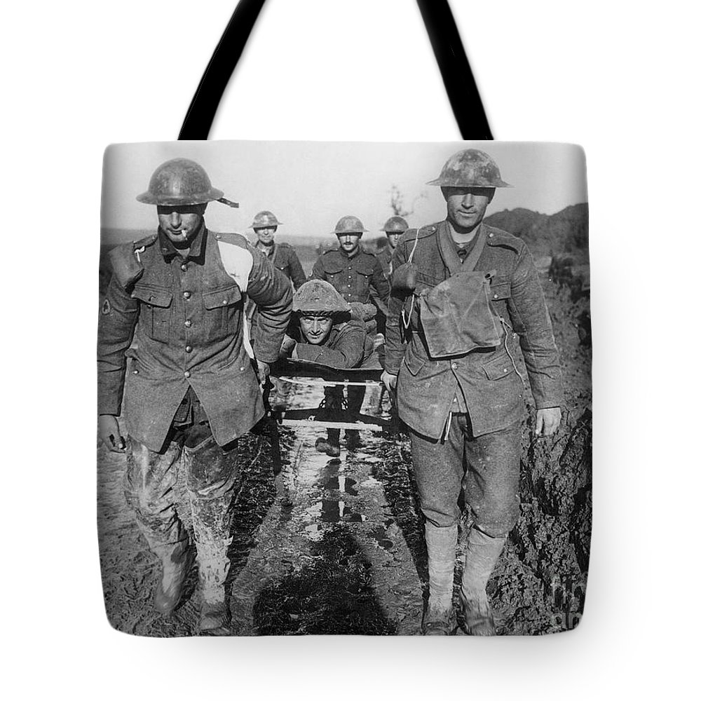 1910s Tote Bag featuring the photograph World War I: Soldiers by Granger