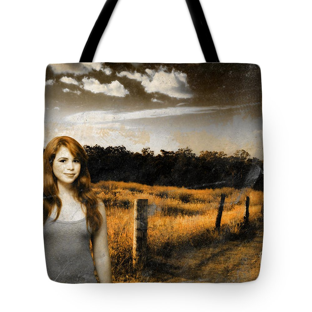 Attractive Tote Bag featuring the photograph Young Country Girl by Jorgo Photography - Wall Art Gallery