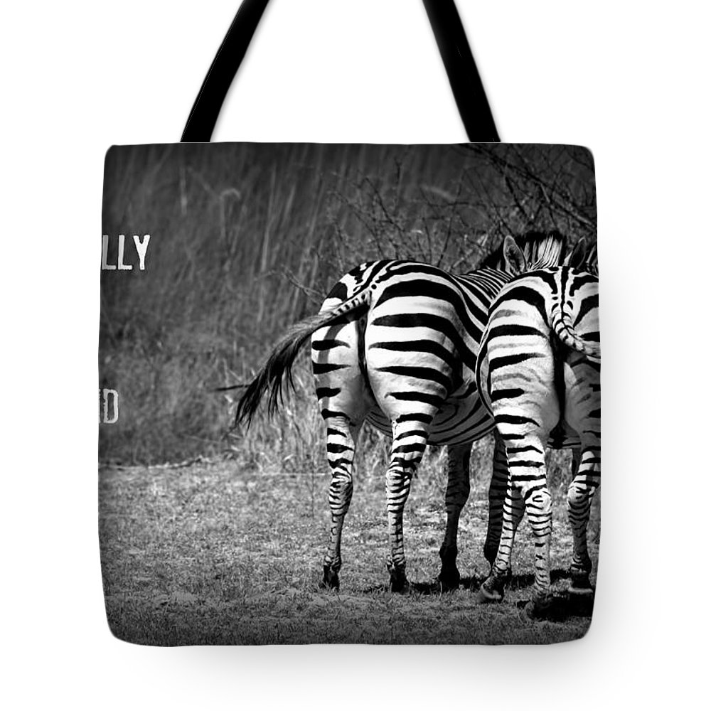 Zebra Tote Bag featuring the photograph Zebra by Amanda Stadther