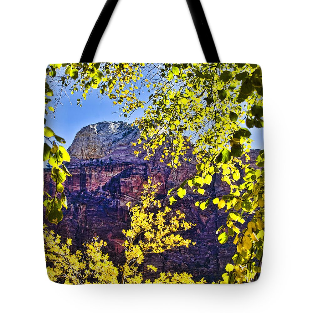 Zion National Park Utah Tote Bag featuring the photograph Zion National Park by Jon Berghoff