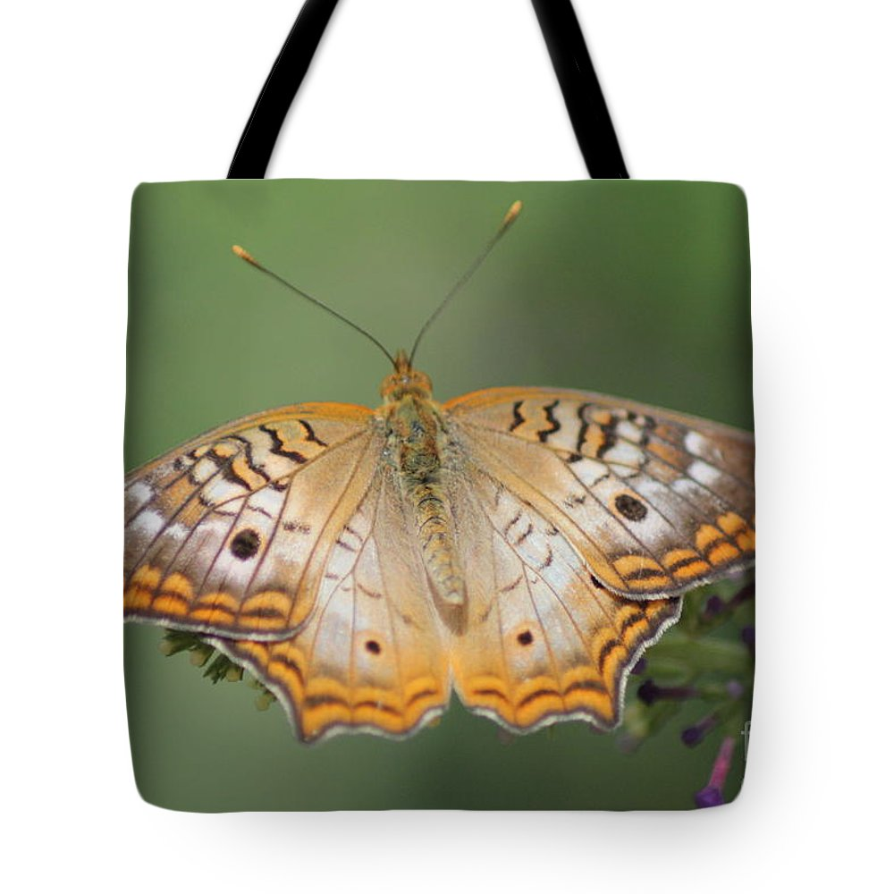 Butterfly Tote Bag featuring the photograph Butterfly by Diane Greco-Lesser
