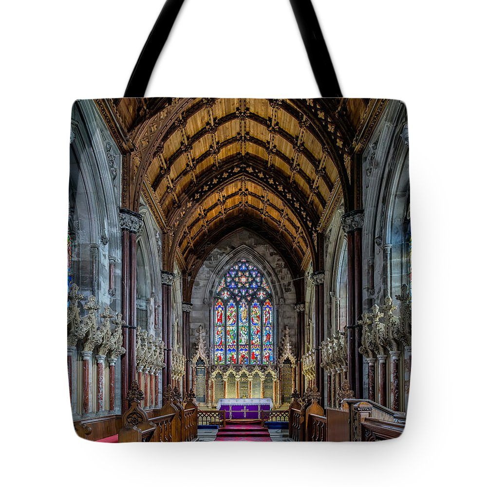 Chapel Tote Bag featuring the photograph 10 Commandments by Adrian Evans