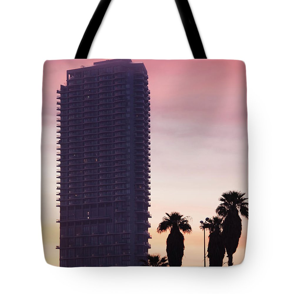 Photography Tote Bag featuring the photograph Low Angle View Of An Office Building by Panoramic Images