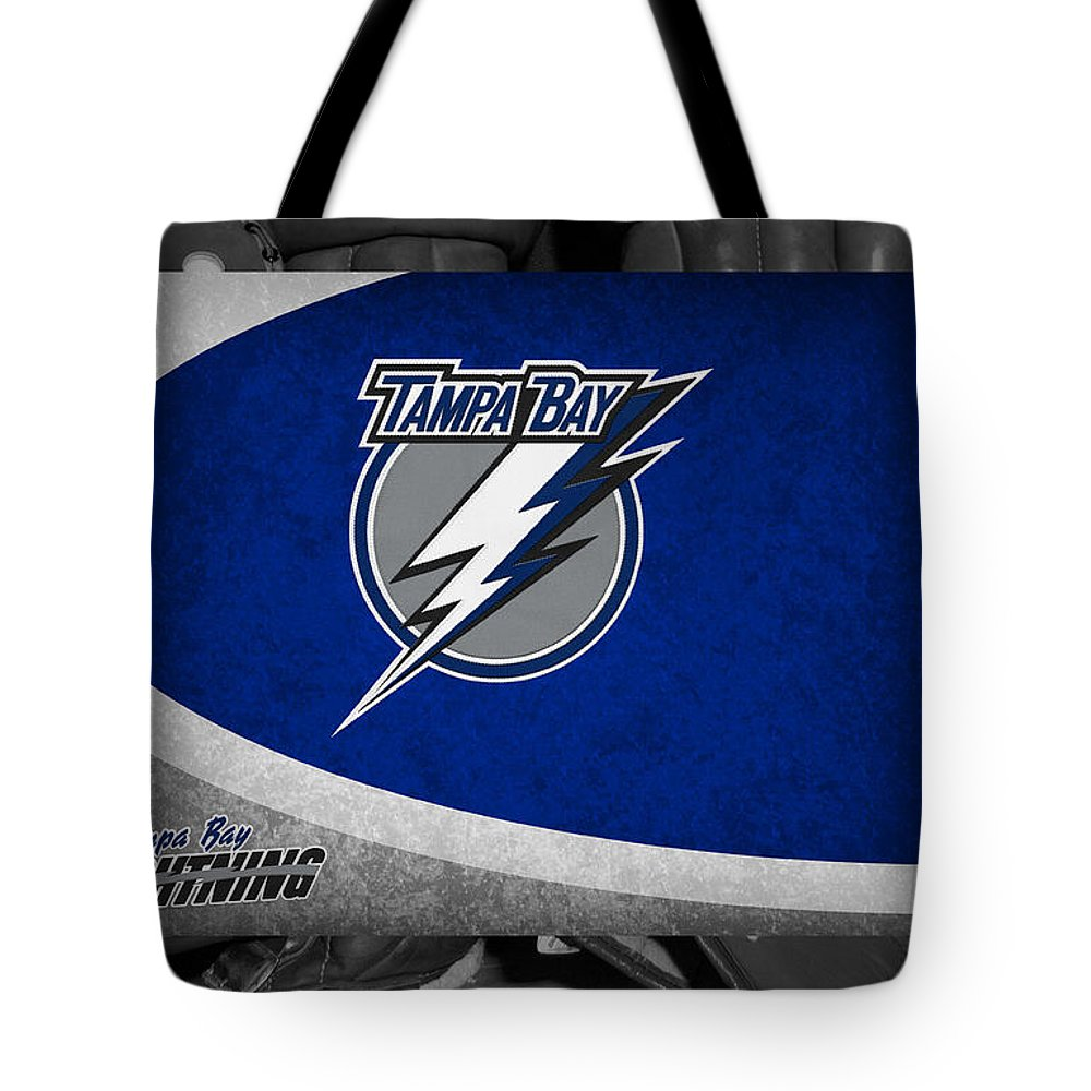 Lightning Tote Bag featuring the photograph Tampa Bay Lightning by Joe Hamilton