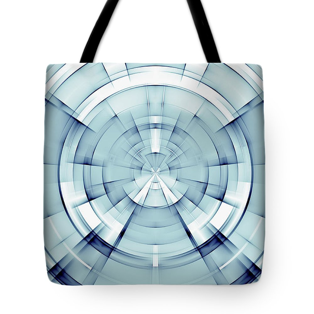 Warp Tote Bag featuring the digital art Abstract by Dan Radi