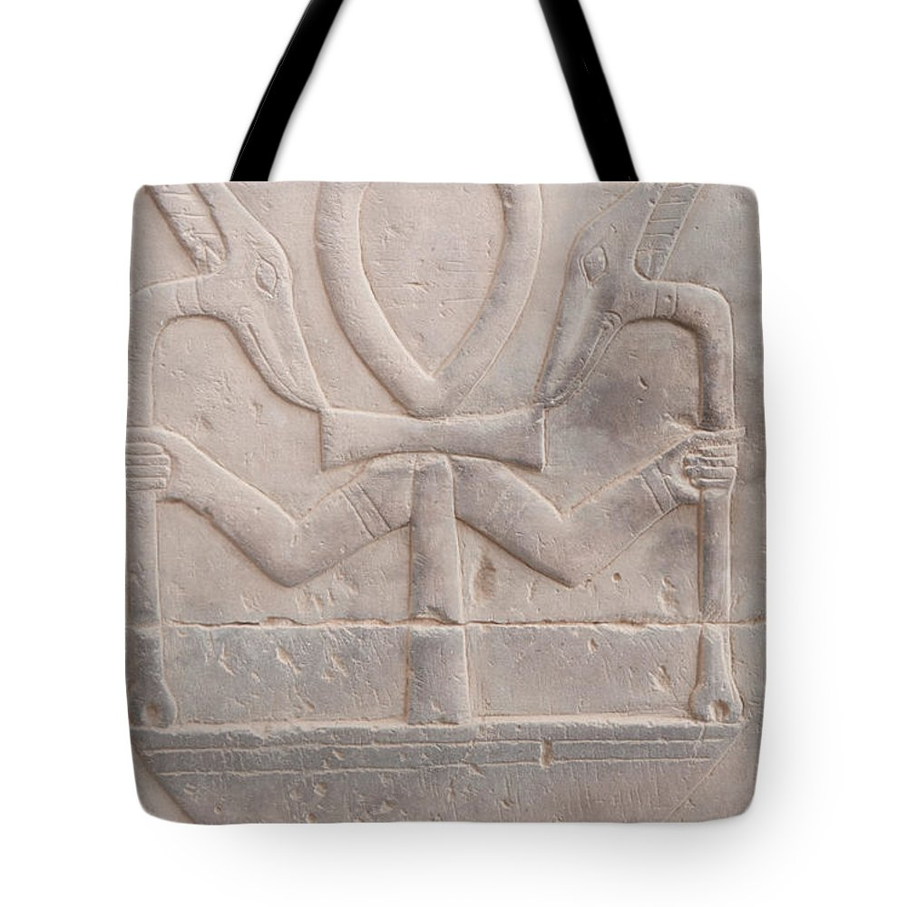 Africa Tote Bag featuring the digital art Edfu by Carol Ailles