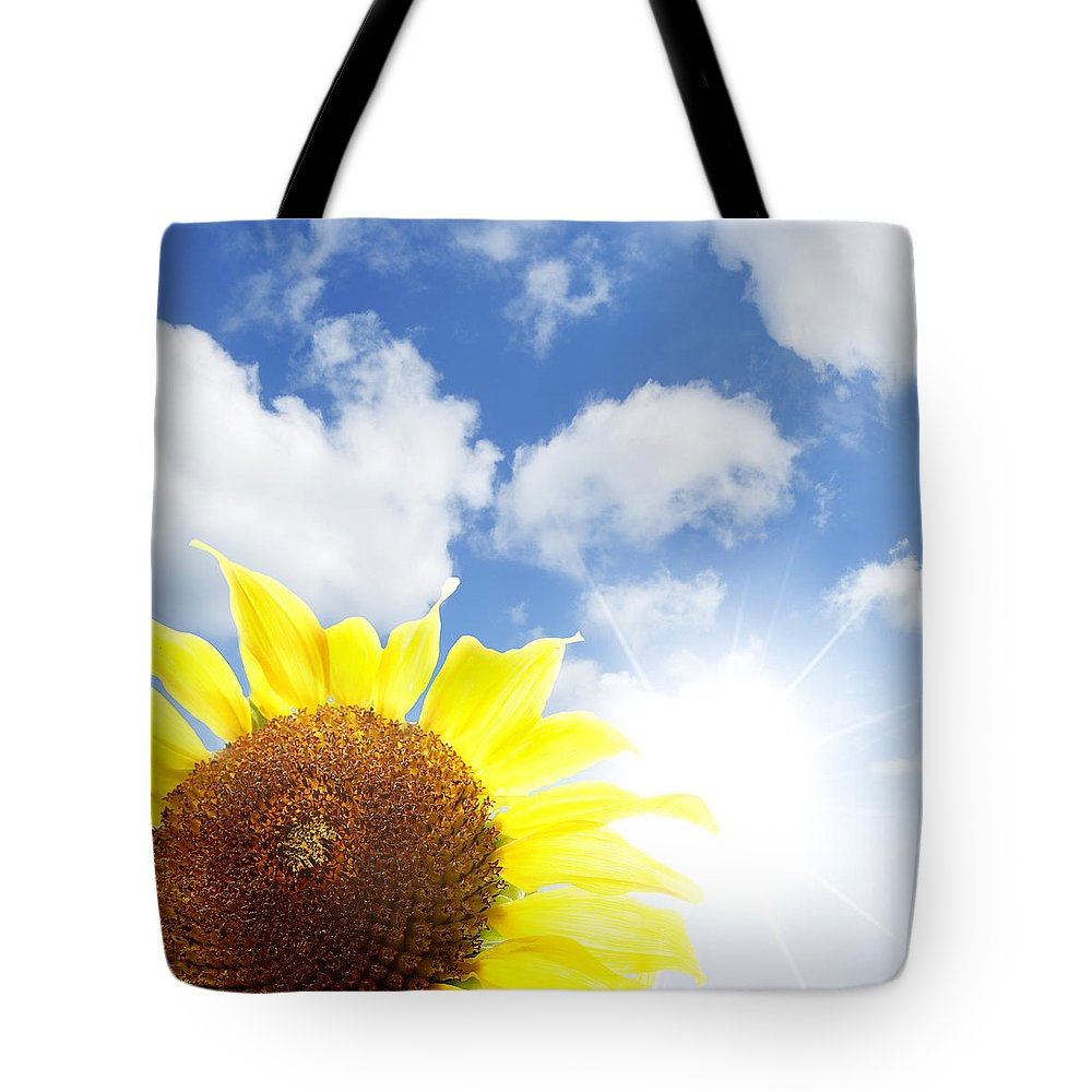 Beautiful Tote Bag featuring the photograph Sunflower by Les Cunliffe