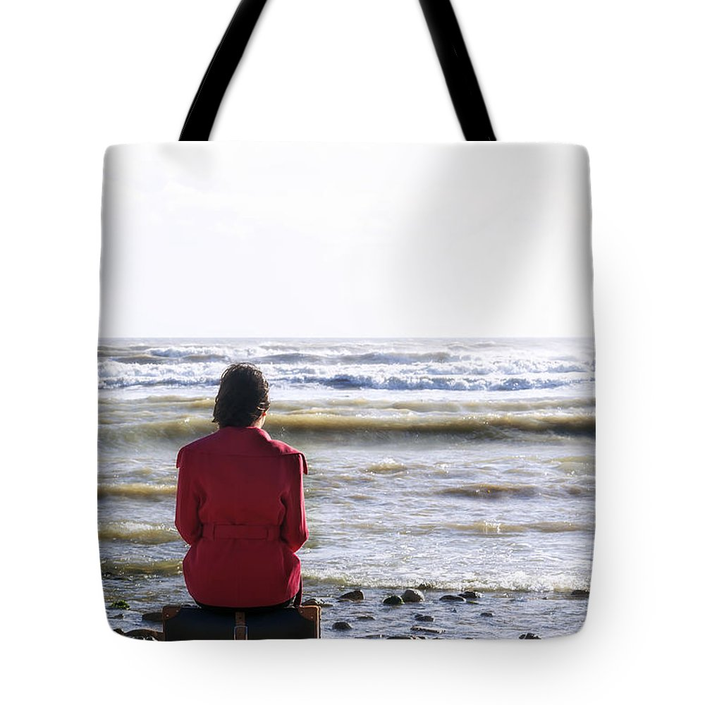 Woman Tote Bag featuring the photograph Waiting by Joana Kruse