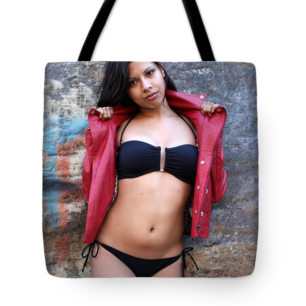 Woman Tote Bag featuring the photograph Young Hispanic Woman by Henrik Lehnerer