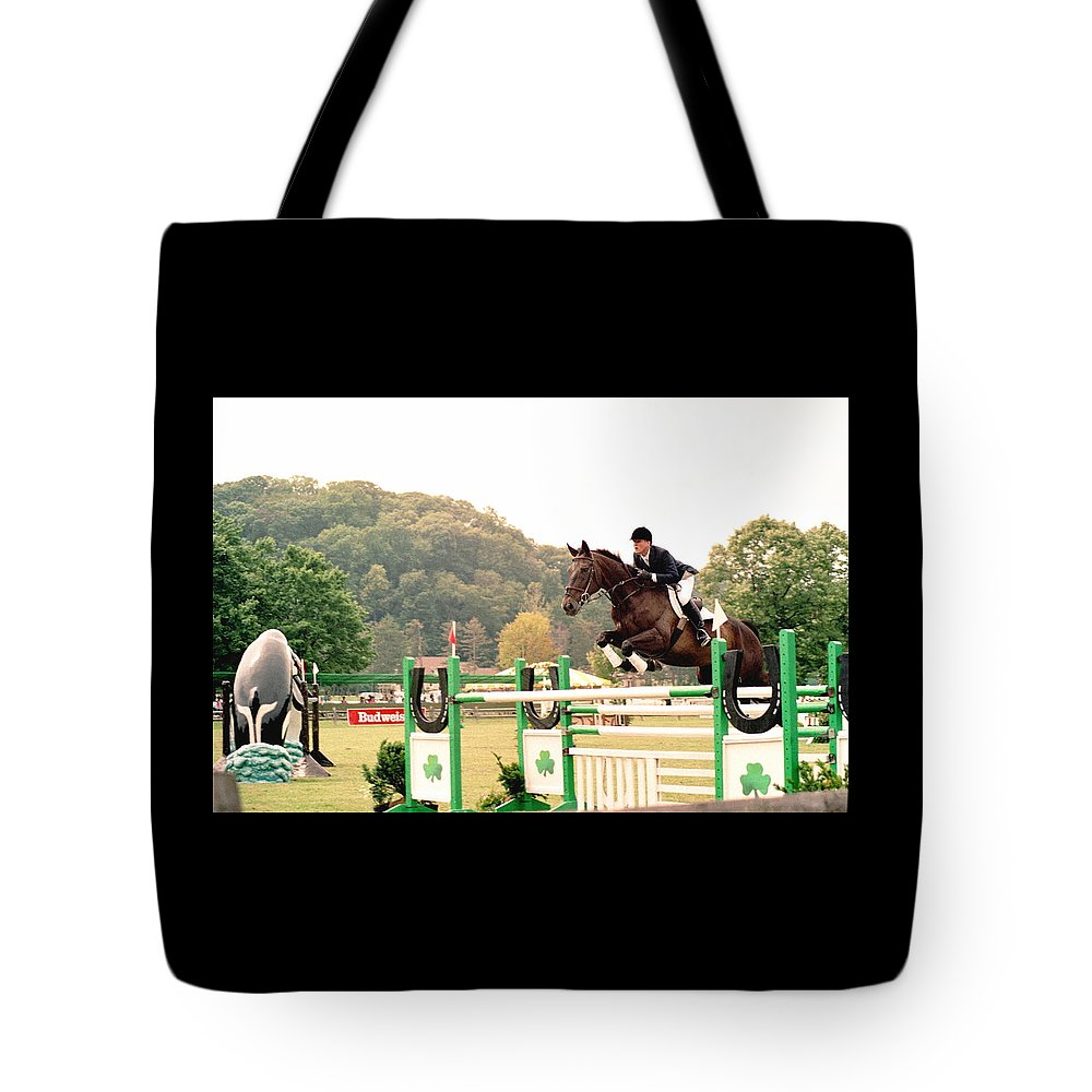 Horse Tote Bag featuring the photograph 111708-1 by Mike Davis